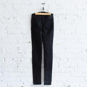 Shimmery black skinny mid-rise Joe's Jeans